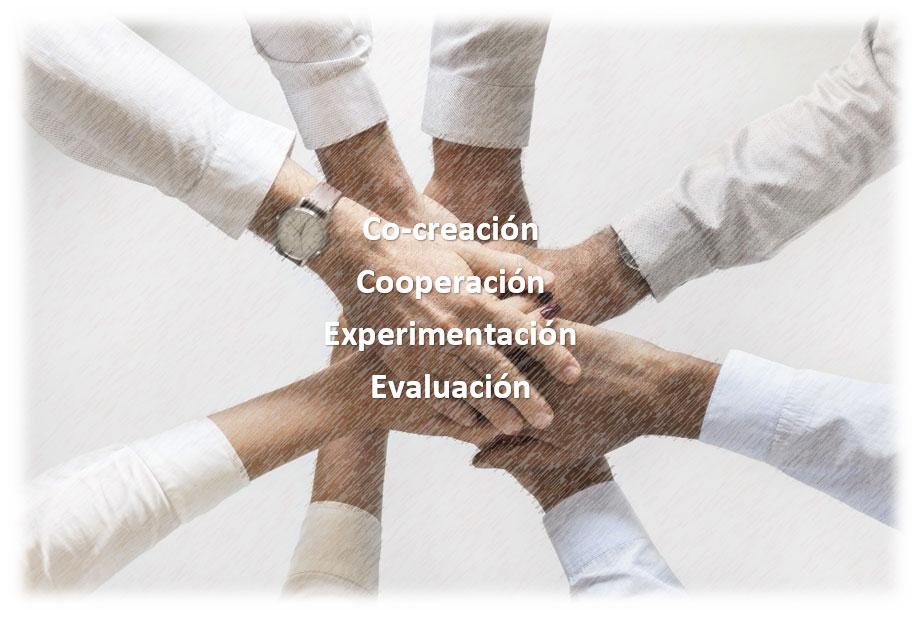 Co-creación, Cooperación, Experimentación y Evaluación